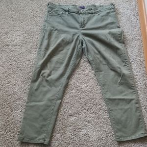 NYDJ skinny ankle green jeans size 18